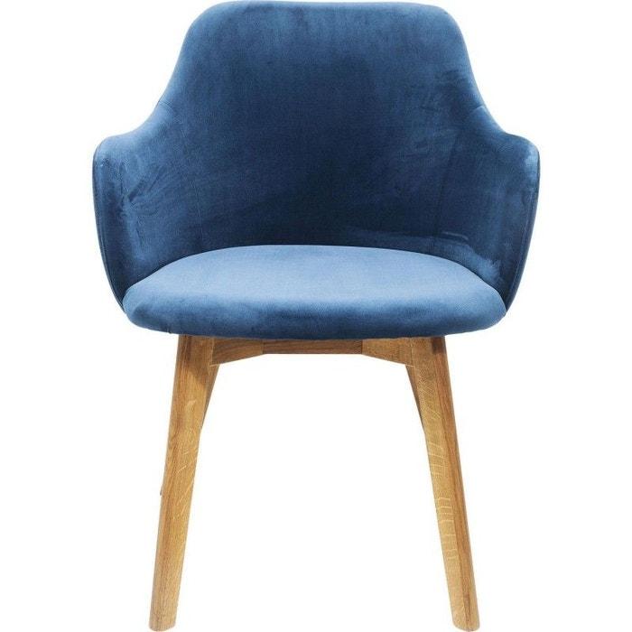 Chaise Avec Accoudoirs Lady Bleu Petrole Kare Design
