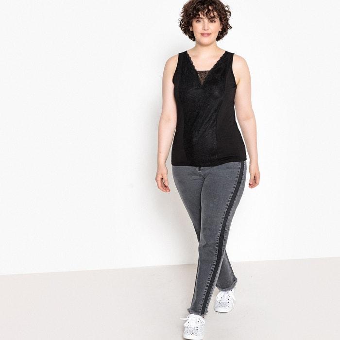 Camiseta mangas 237;a lencer estilo sin CASTALUNA Eaqnxdd
