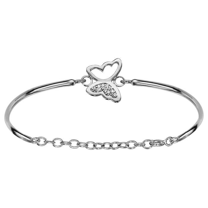 Bracelet jonc papillon oxyde de zirconium blanc réglable chaîne argent 925 couleur unique So Chic Bijoux | La Redoute En France En Ligne nyVzavSAdt