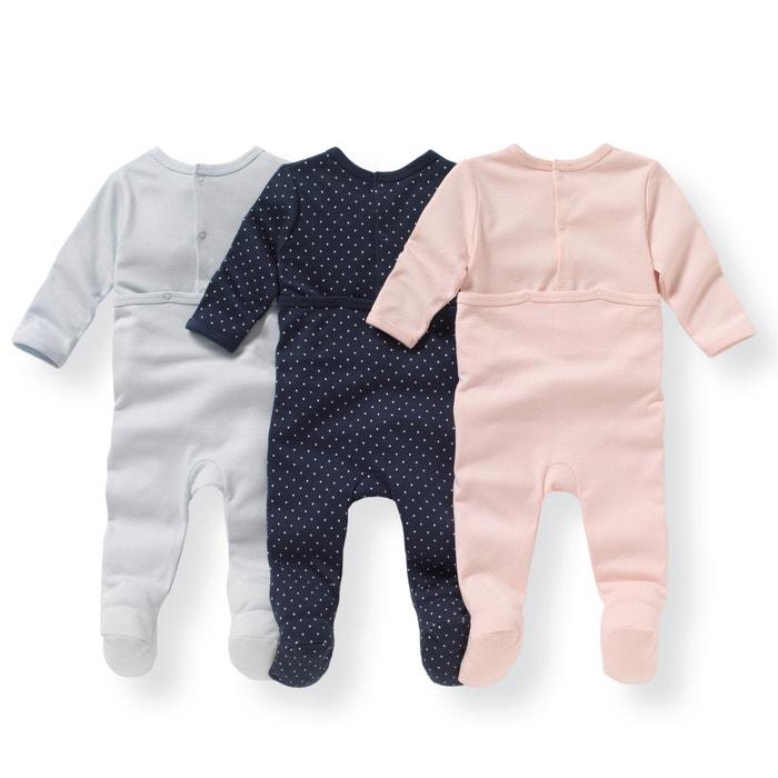 afbeelding Set van 3 bedrukte pyjama's in katoen 0 mnd - 3 jaar La Redoute Collections