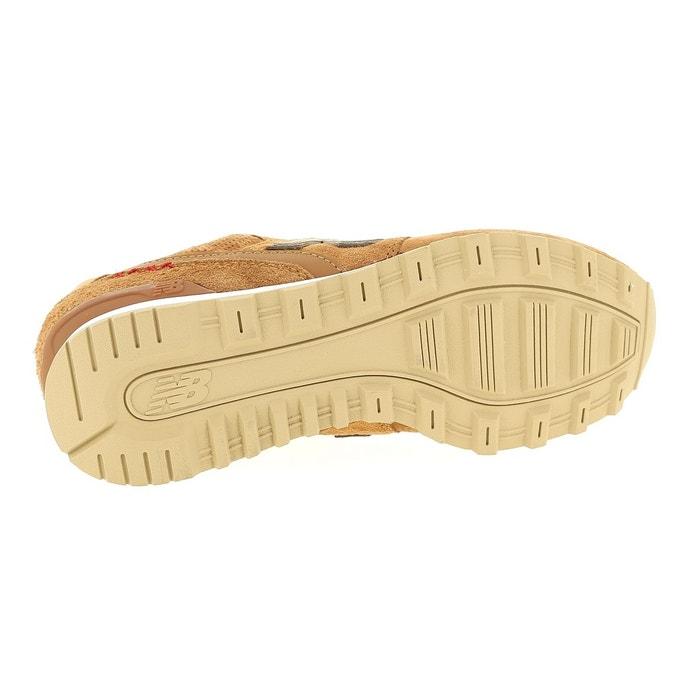 Baskets en cuir lisse et cuir suédé 996 gris anthracite New Balance