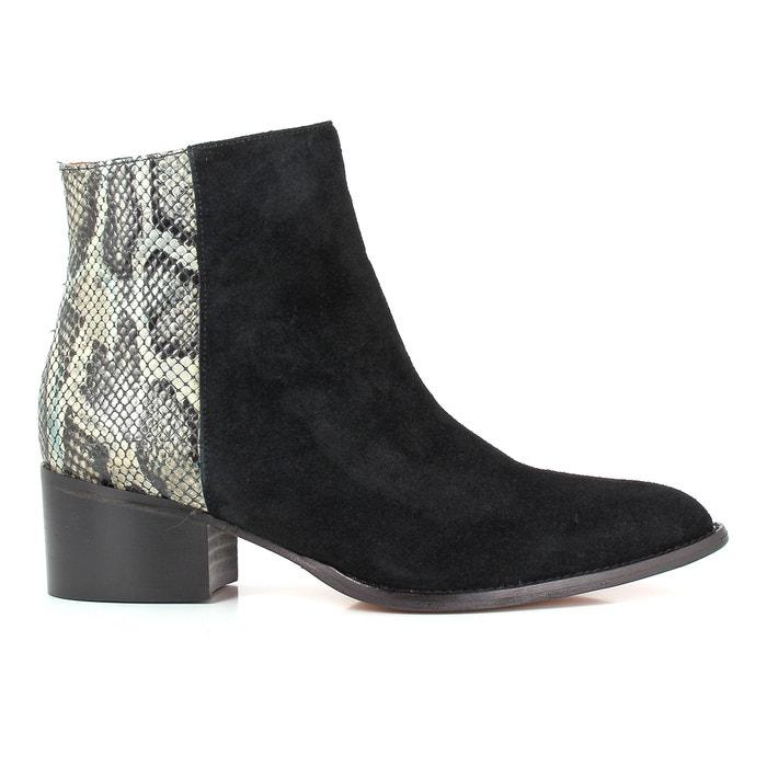 Image Boots en cuir bi matière HAVYS ELIZABETH STUART