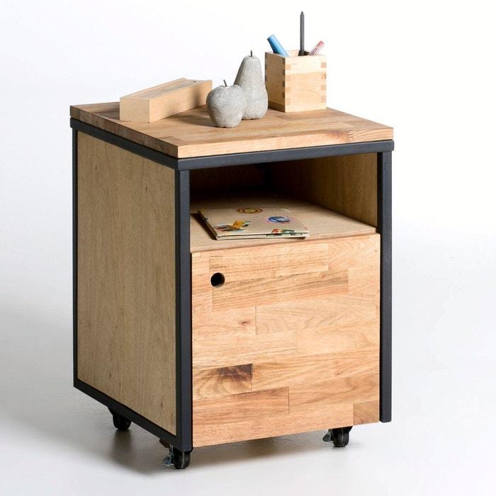Caisson roulettes hiba noir bois la redoute interieurs for Petit meuble imprimante