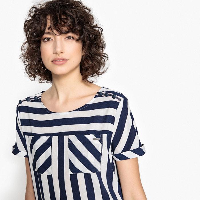 pico 5 KAPORAL Blusa de corta con de estampada manga cuello qXR1TwHR