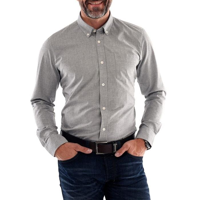 chemise homme en flanelle gris hanjo la redoute. Black Bedroom Furniture Sets. Home Design Ideas