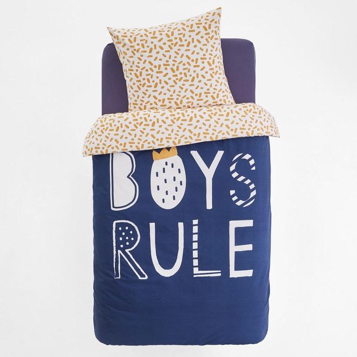 Housse de couette imprimée enfant BOYS RULE