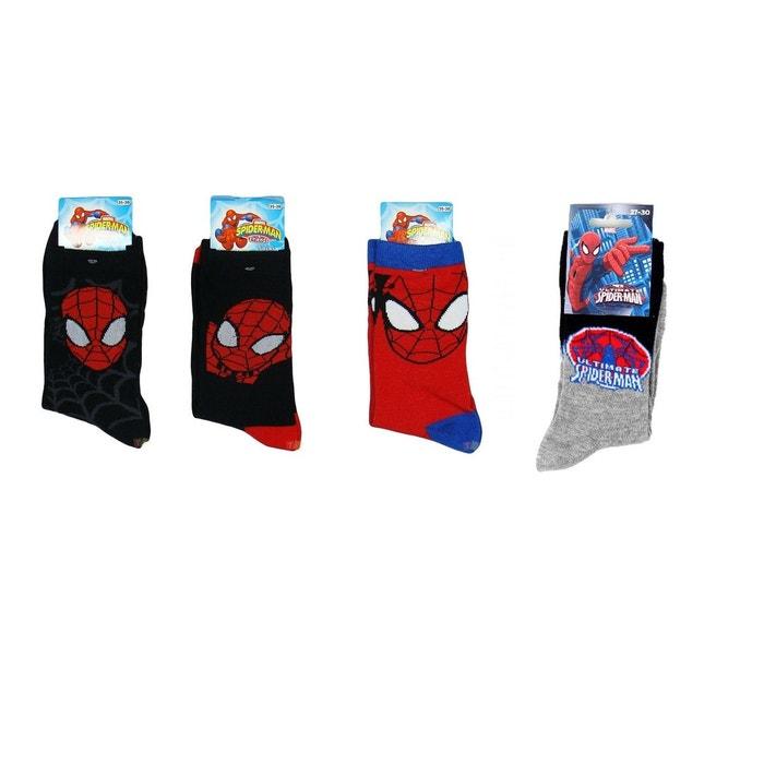 SPIDERMAN Lot de 4 paires de chaussettes SPIDER-MAN