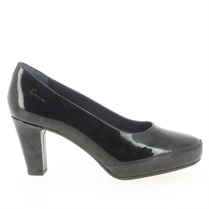 Escarpins cuir noir Dorking Shopping En Ligne Y7b1yQs