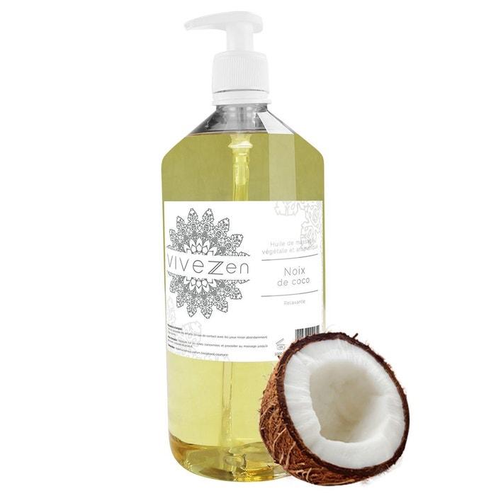 huile de massage modelage 100 v g tale 1l parfum noix de coco vivezen la redoute. Black Bedroom Furniture Sets. Home Design Ideas