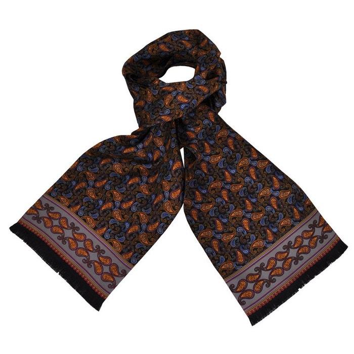 Foulard en soie carven dandy cachemire noir Toutacoo   La Redoute 2c0e0092527