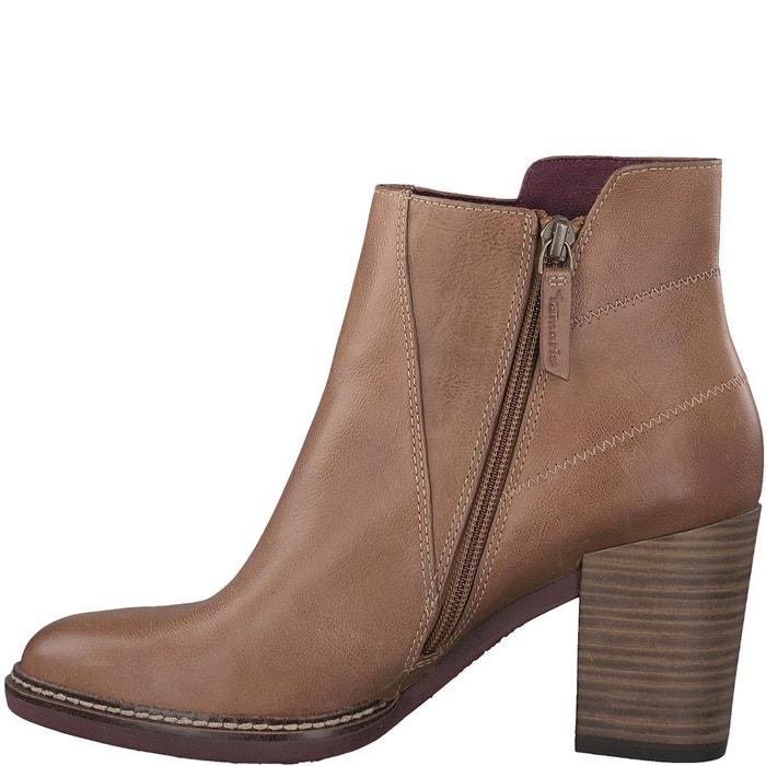 Boots cuir joly noisette Tamaris