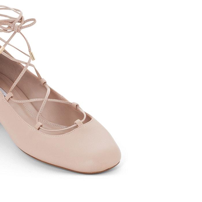afbeelding Ballerina's in leer met enkelbandje Ballay DUNE LONDON