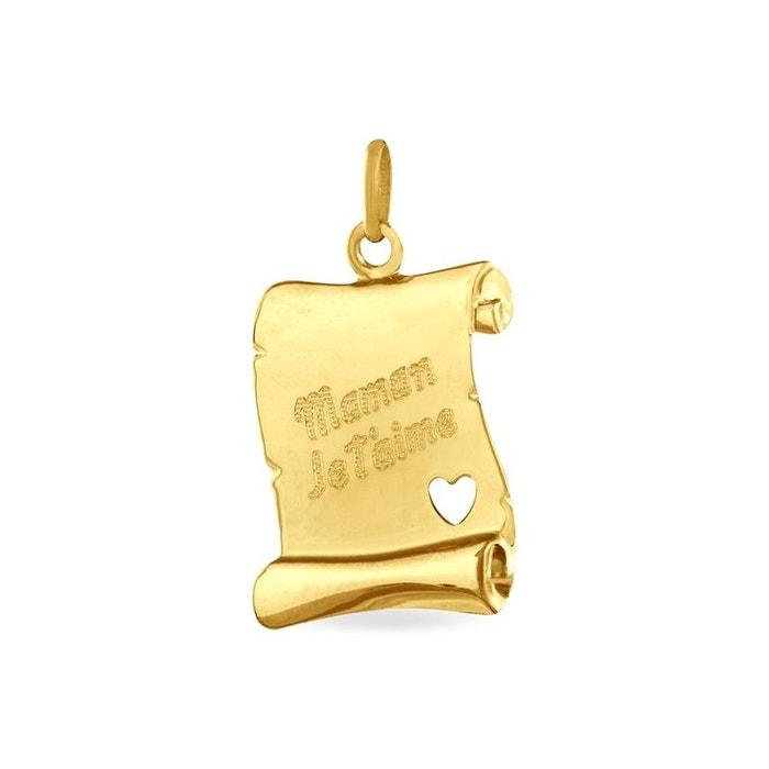 Pendentif or jaune Histoire D'or   La Redoute Prix Réel Pas Cher Plus Grande Vente De Fournisseurs En Ligne Pas Cher Explorer uU9U4A