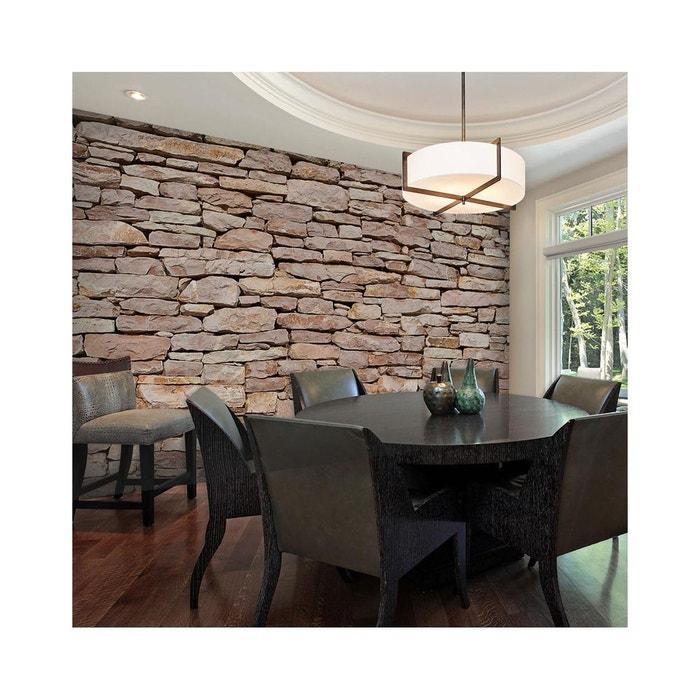 papier peint mur de pierre naturelle dimension 250x193 recollection la redoute. Black Bedroom Furniture Sets. Home Design Ideas