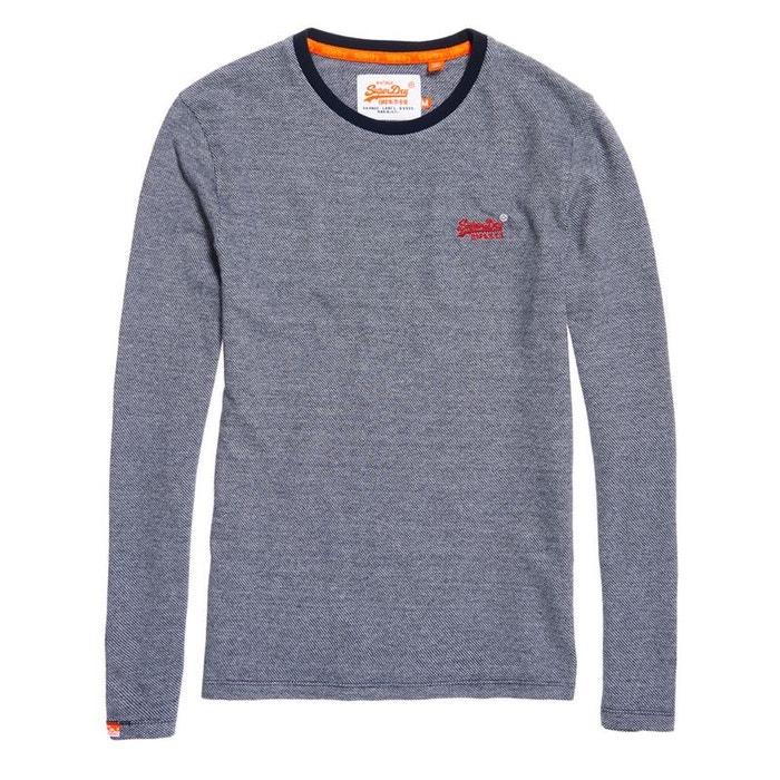 Haut texturé à manches longues orange label Superdry   La Redoute 10c47e26e18e