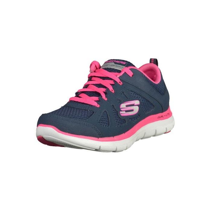 5423d354fb33f4 Sneaker imitation cuir/mesh Skechers | La Redoute