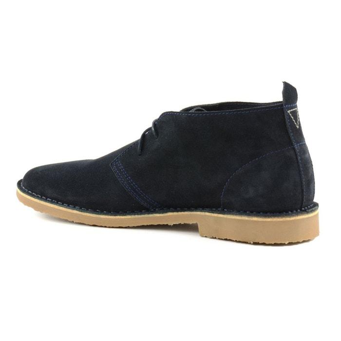 Desert boots en daim noir Sacha