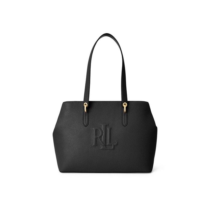 Highfield Leather Logo Tote Bag