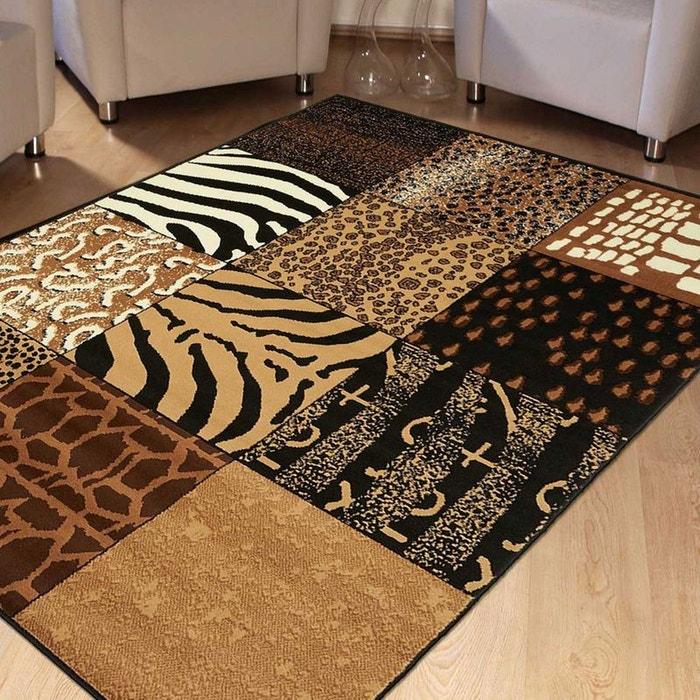 Tapis savana patchwork beige tapis moderne 120 x 170 cm - La redoute tapis salon ...