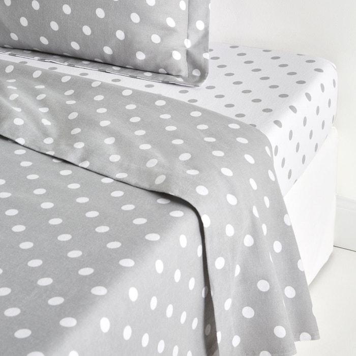 drap flanelle imprim e clarisse la redoute interieurs. Black Bedroom Furniture Sets. Home Design Ideas
