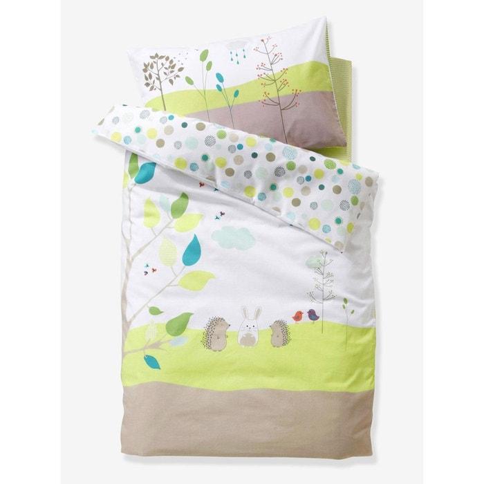 housse de couette b b pic nic beige multicolore vertbaudet la redoute. Black Bedroom Furniture Sets. Home Design Ideas