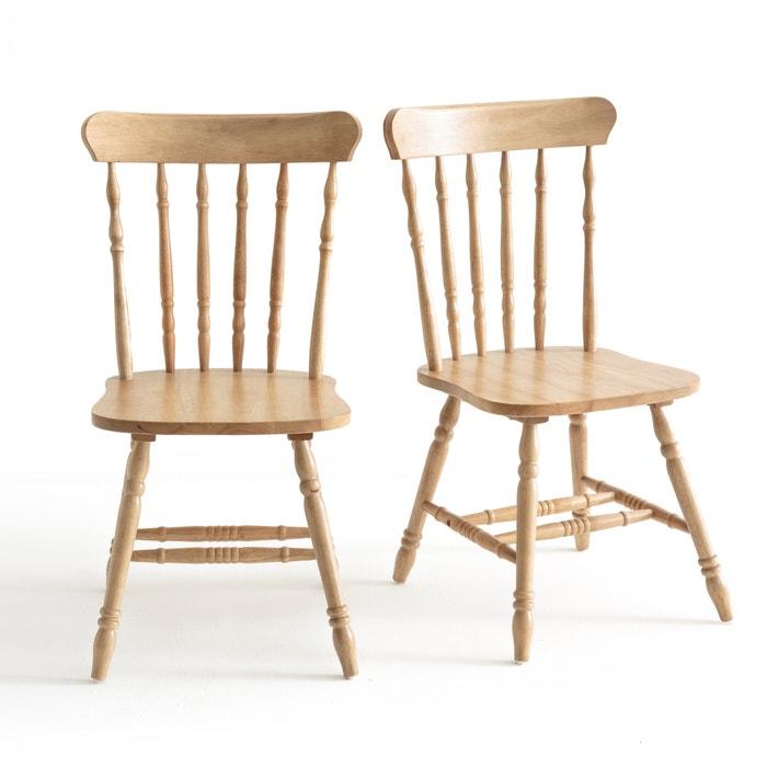 chaises barreaux lunja lot de 2 naturel la redoute interieurs la redoute. Black Bedroom Furniture Sets. Home Design Ideas