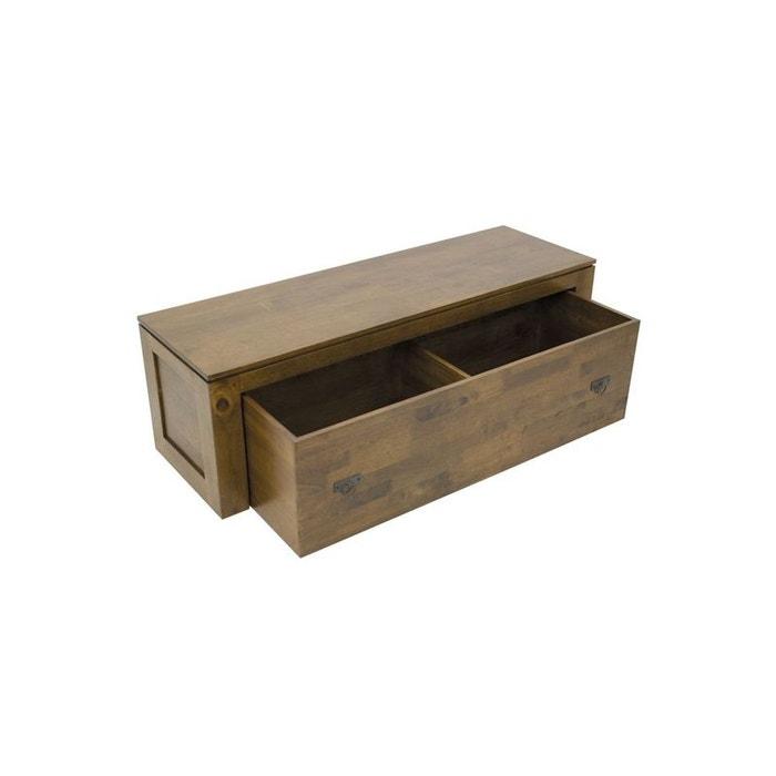 banc coffre de rangement h v a helena ch ne traditionnel. Black Bedroom Furniture Sets. Home Design Ideas