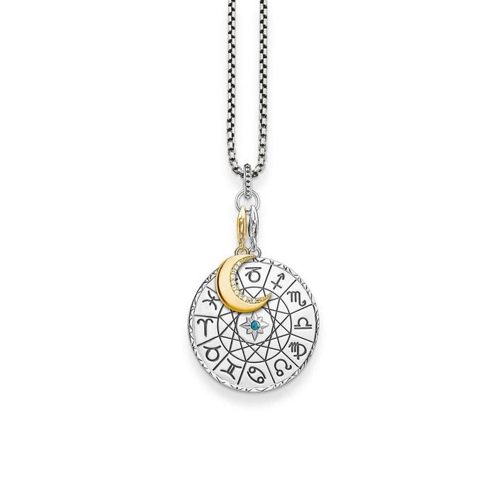 Chaîne charm médaille signe astrologique, lune argenté, couleur or jaune, blanc Thomas Sabo | La Redoute