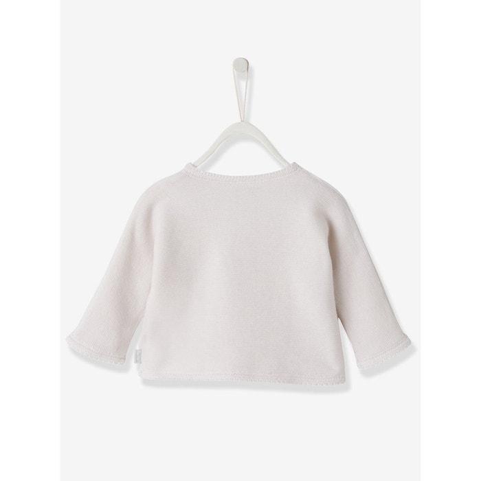 Brassière bébé coton et laine blanc Vertbaudet  c5bfcd00e0c