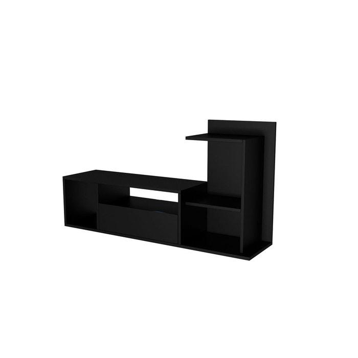 Meuble Tv Design Sumatra L 120 X H 65 Cm Noir Minar La Redoute
