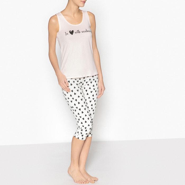 Weekend Slogan Print Pyjamas  La Redoute Collections image 0