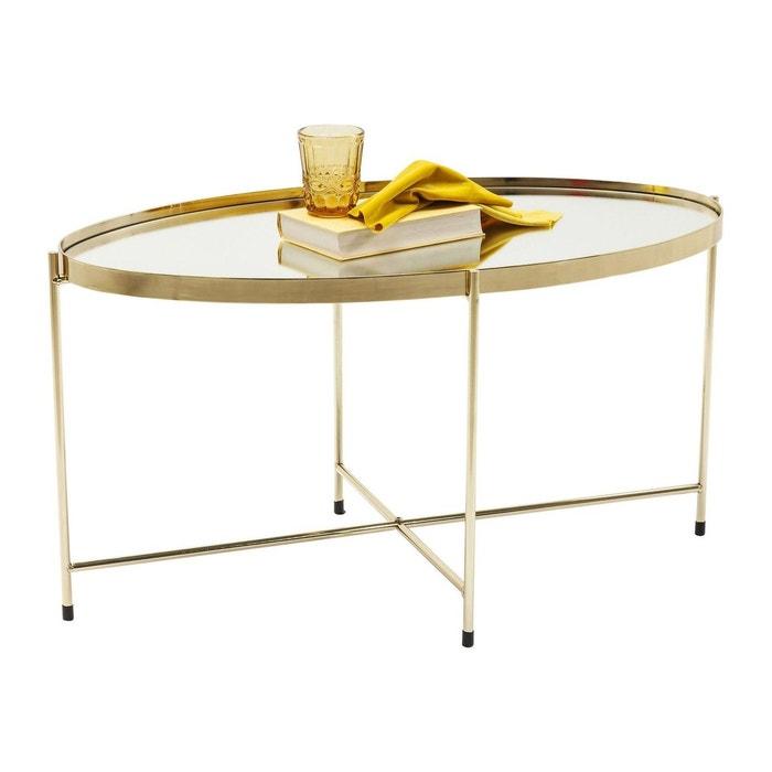 Table basse Miami ovale laiton 83x40cm Kare Design KARE DESIGN