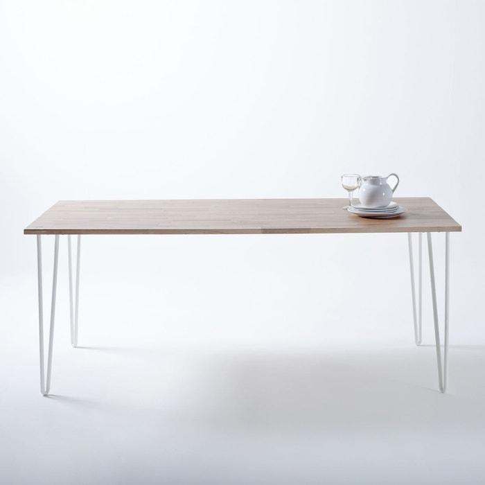 Table en ch ne massif adza ch ne la redoute interieurs - La redoute table chene ...