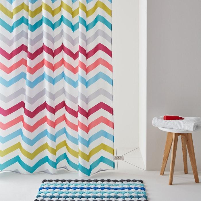 rideau de douche zigzag multicolore imprim la redoute interieurs la redoute. Black Bedroom Furniture Sets. Home Design Ideas