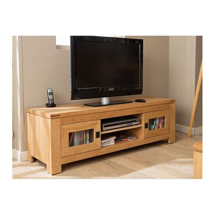 Meuble tv bas moderne en ch ne clair boston ch ne clair hellin depuis 1862 la redoute - Meuble tv en chene clair ...