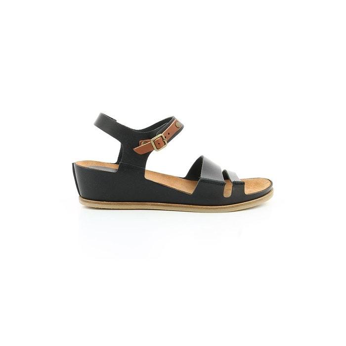 Sandale cuir femme taktime black/white print Kickers Livraison Gratuite Nouveaux Styles La Sortie Offres k6RAj