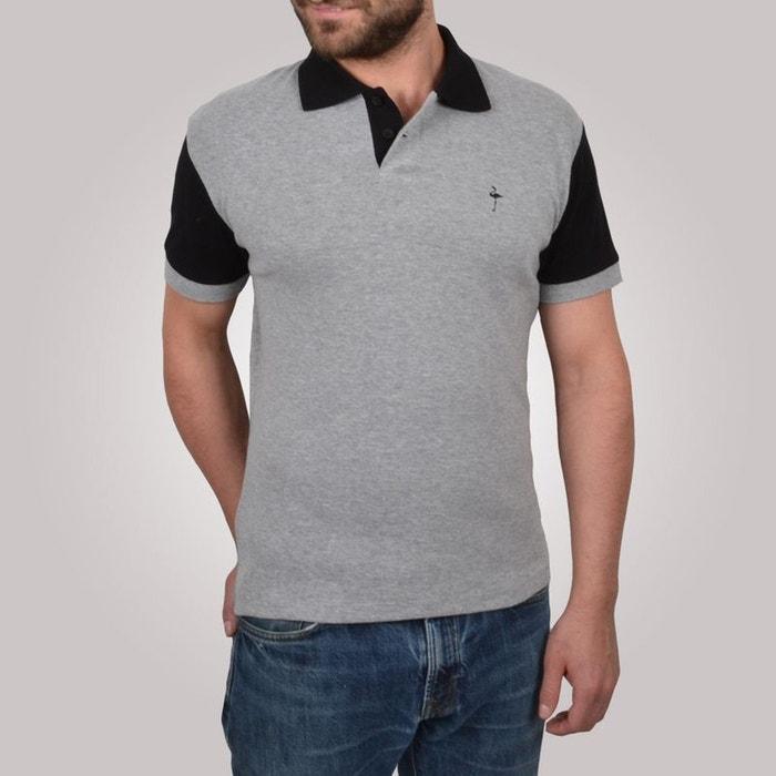 polo noir Polo gris sleevart clair homme et manches courtes gris xHHqFawY