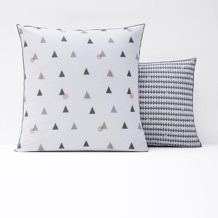 taie d 39 oreiller pur coton digna imprim kaki rose la redoute interieurs la redoute. Black Bedroom Furniture Sets. Home Design Ideas