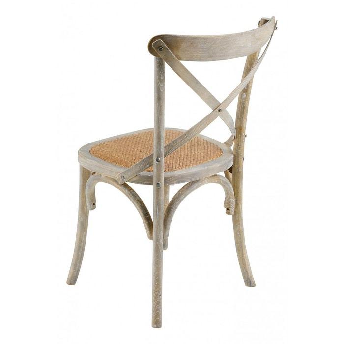 Chaise bistrot en bois d 39 orme lot de 2 zago la redoute for Chaise bistrot bois