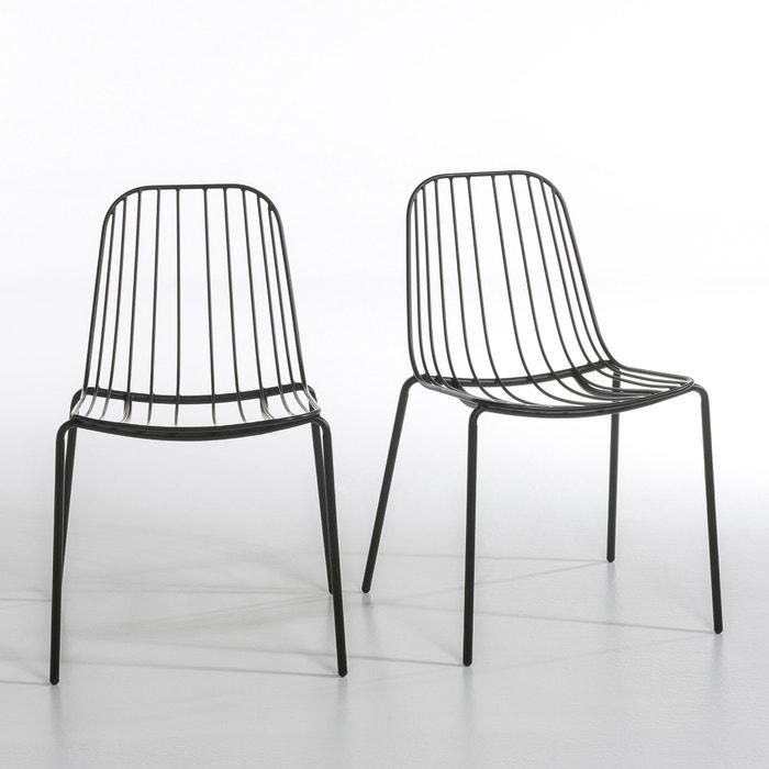 Stoel in metaal bop set van 2 zwart am pm la redoute - Am pm stoelen ...