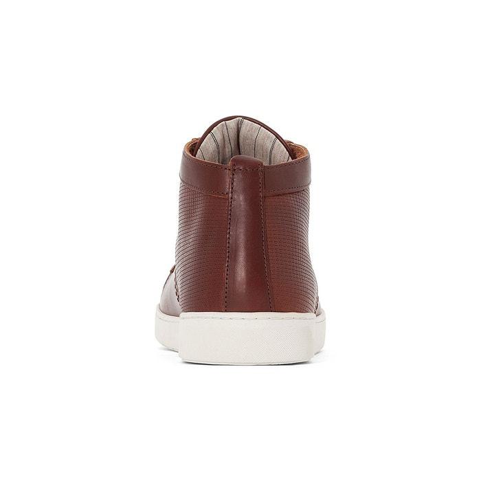 Baskets montantes cuir hespal marron Kost