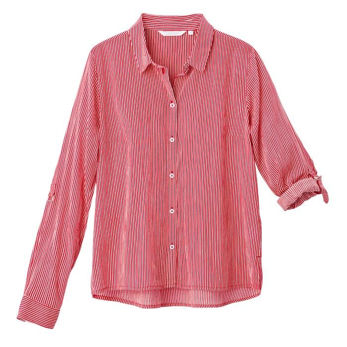 afbeelding Gestreept hemd met lange mouwen in zuiver katoen TOM TAILOR