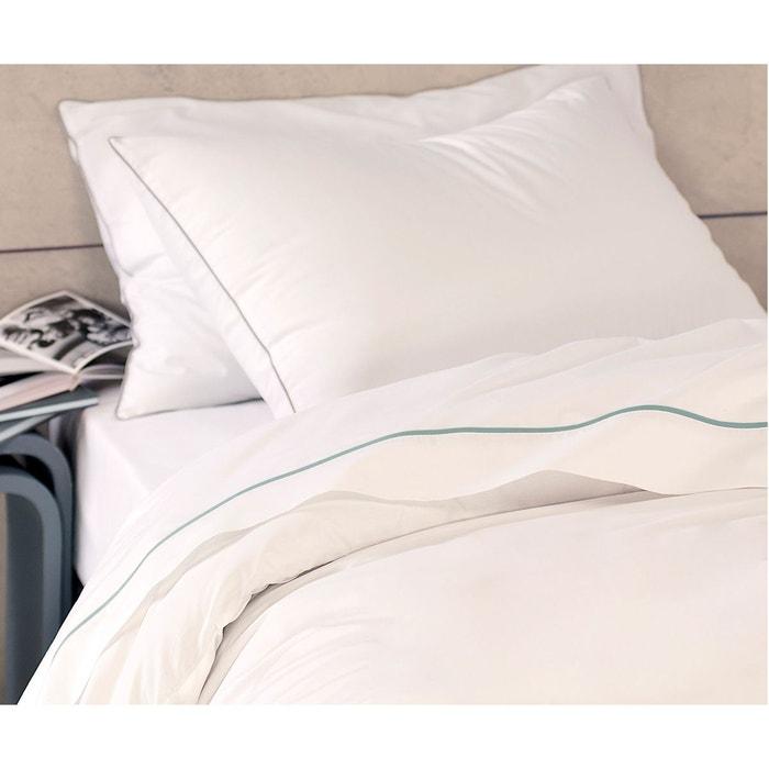 drap plat 100 coton blanc matt et rose la redoute. Black Bedroom Furniture Sets. Home Design Ideas