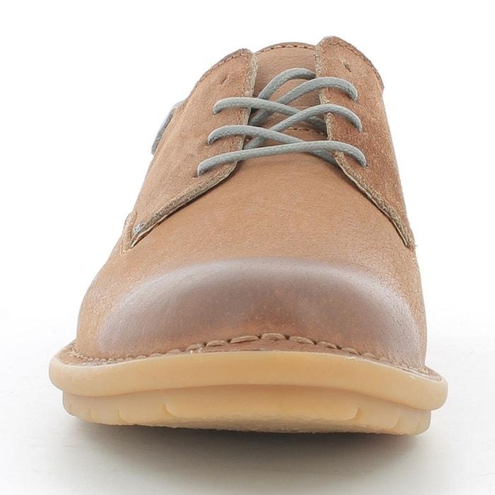 Derbies cuir à lacets vildiur marron Kickers