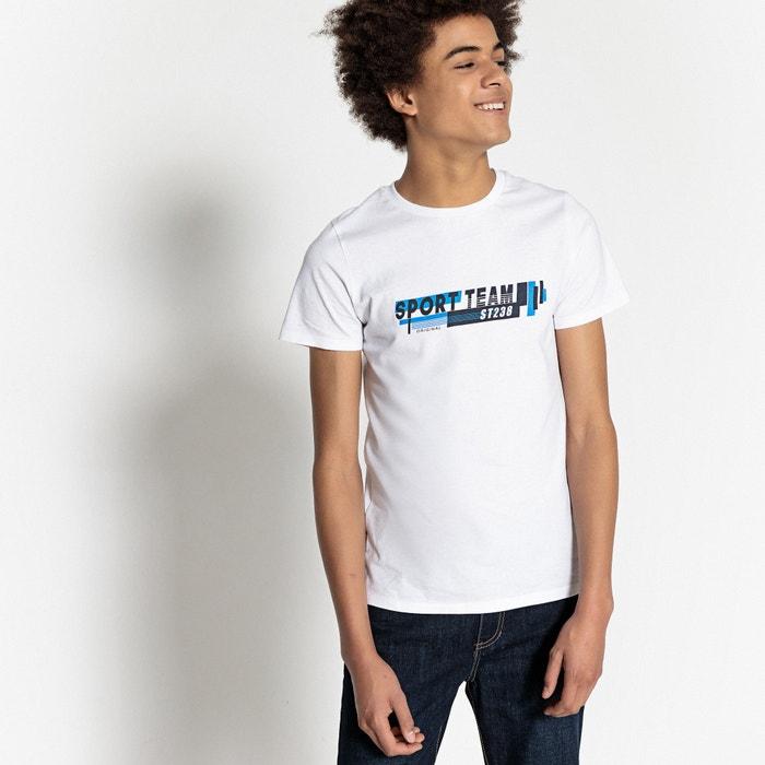 T-shirt scollo rotondo 10-16 anni  La Redoute Collections image 0
