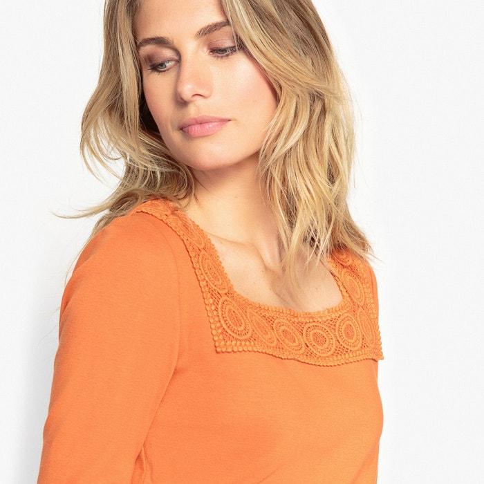 lisa manga con Camiseta ANNE WEYBURN cuello redondo larga vwqggZzn