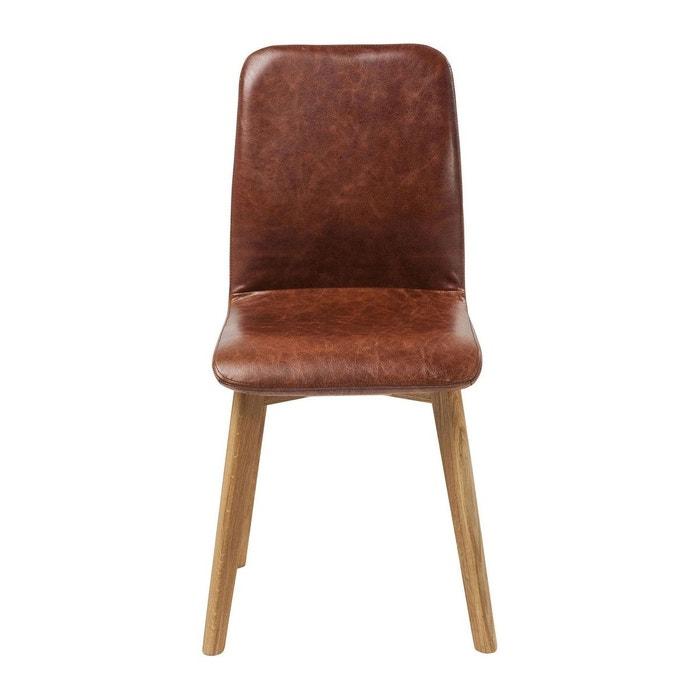 Chaise lara cuir kare design marron kare design la redoute for Chaise kare design