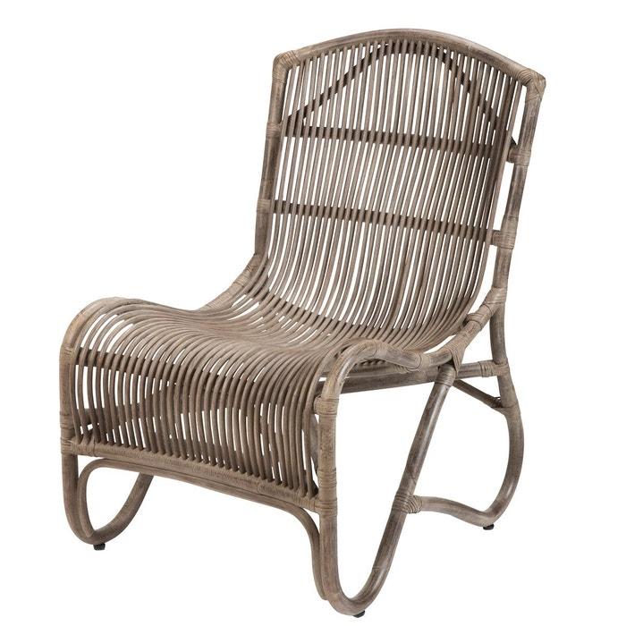 chaise longue en kubu pals rotin design gris brun rotin. Black Bedroom Furniture Sets. Home Design Ideas