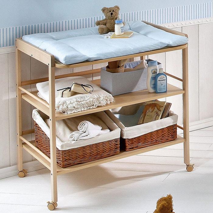 geuther table langer avec tag res naturel geuther la redoute. Black Bedroom Furniture Sets. Home Design Ideas