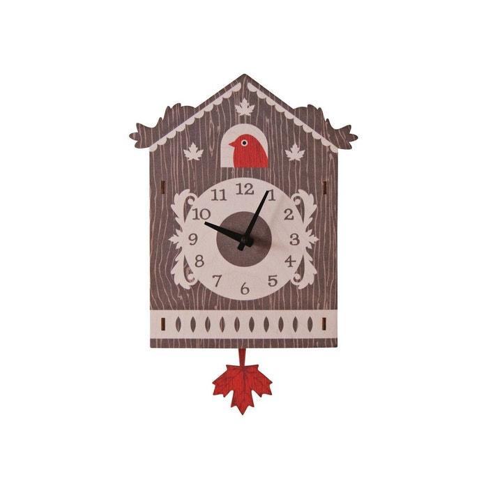 Horloge murale balancier coucou suisse pour enfants modern moose multicolore modern moose la for Horloge murale multicolore